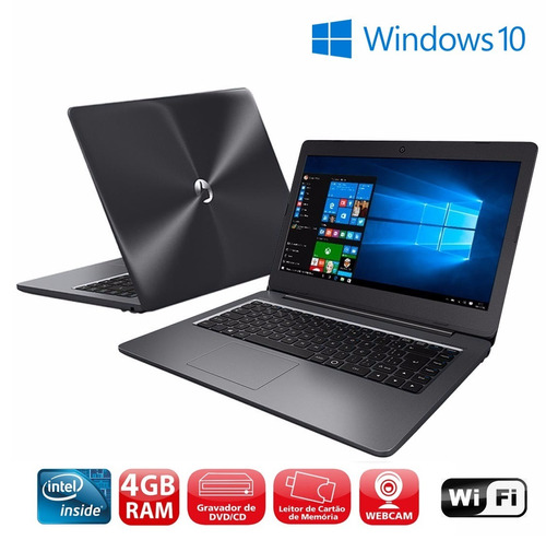 notebook positivo master n40i 4gb hd500 wifi bluetooth