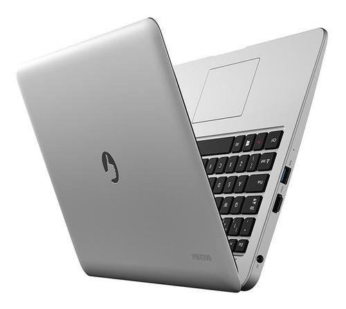 notebook positivo motion c4500a celeron 4gb 500gb w10 prata