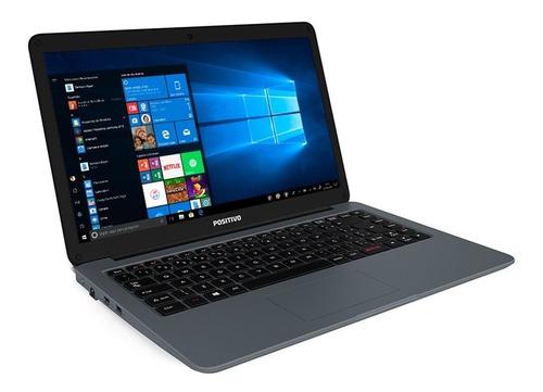 notebook positivo motion i3464a core i3 4gb 64gb  w10 prata
