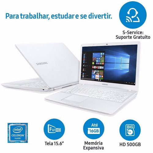notebook samsung e21 intel 4gb ram 15,6 led full hd 500gb pt