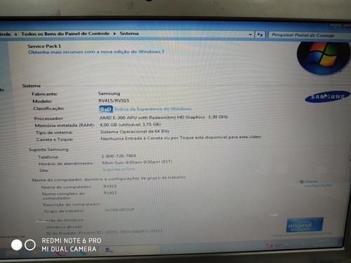 notebook samsung rv415