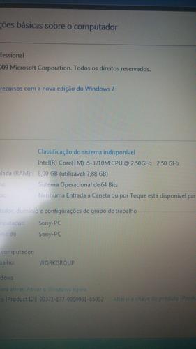 notebook sony svs131c1mx