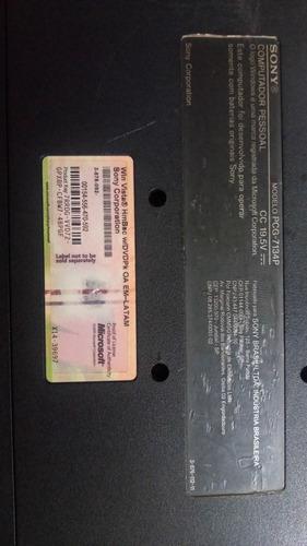 notebook sony vaio vgn nr 320ah r$ 650