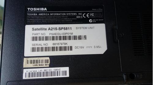 notebook toshiba satellite a215-sp5811