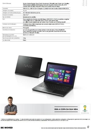 notebook vaio i5