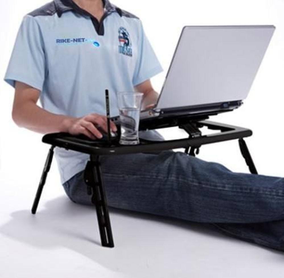 Mesa para notebook o netbook con patas y ventilador e - Mesa para portatil ikea ...