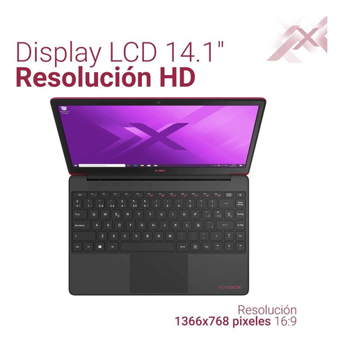 notebook xview 14 pulg 4gb 32gb cloudbook novabook win 10