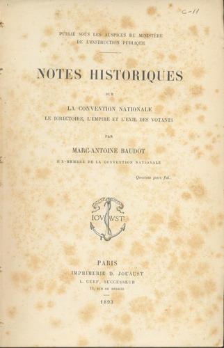 notes historiques sur la convention nationale