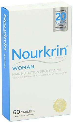 nourkrin woman 60 tabletas mujer - crecimiento del cabello