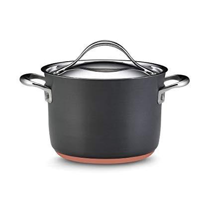 nouvelle cobre 4 cuarto de galón cubiertos saltear pot