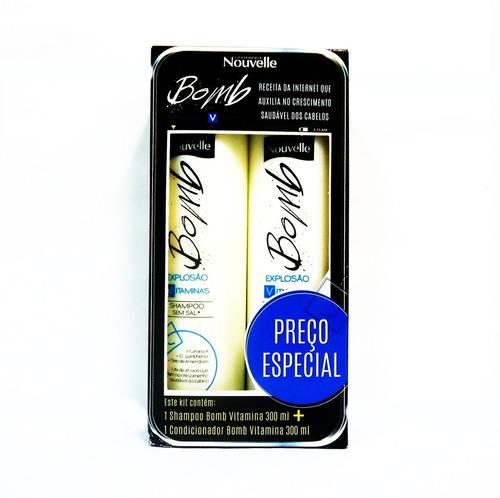 nouvelle kit bomb shampoo + condicionador 2 x 300ml