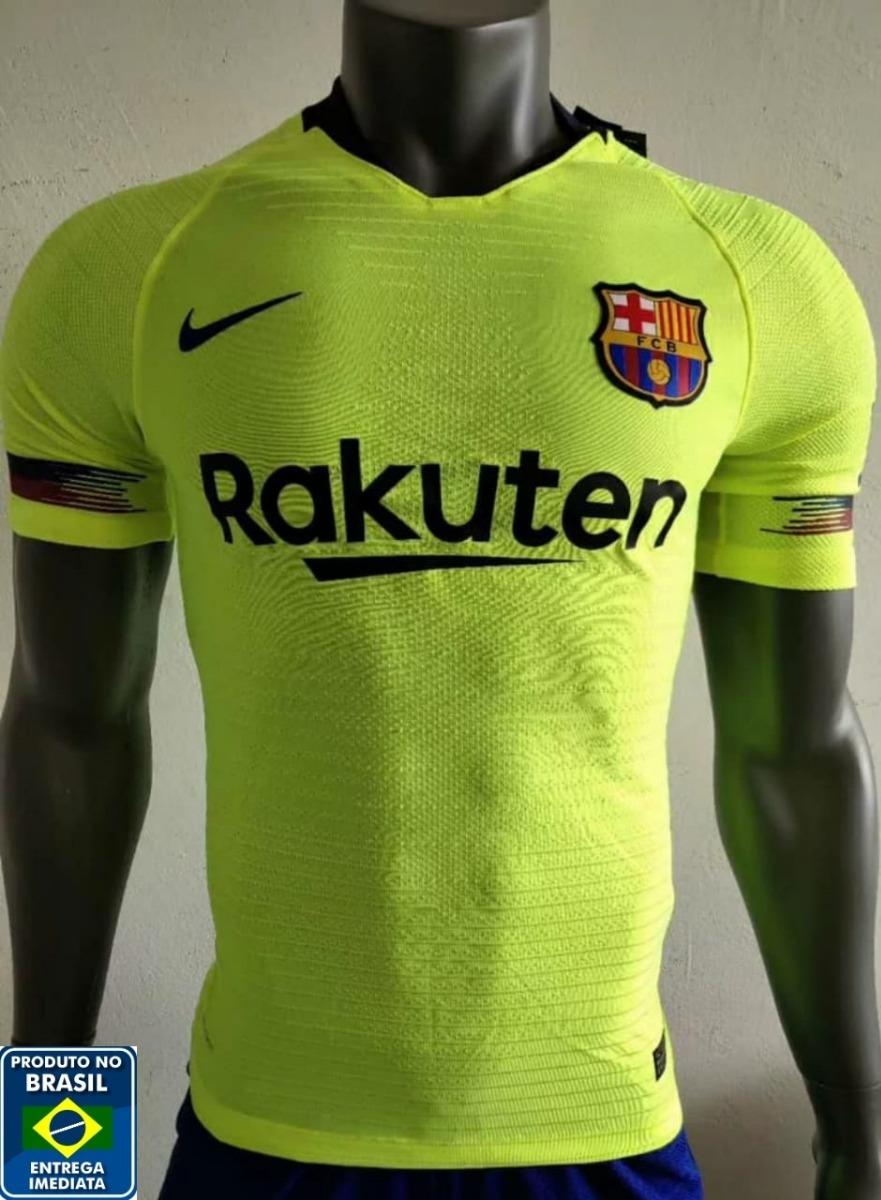 nova camisa barcelona 2018 2019 uniforme 2 - versão jogador. Carregando zoom . 62bca191bde7c