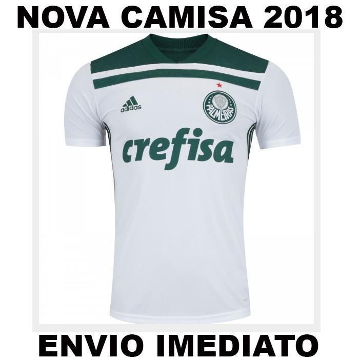 614f39e8f8 Nova Camisa Branca Palmeiras 2018 - Super Promoção - R  60