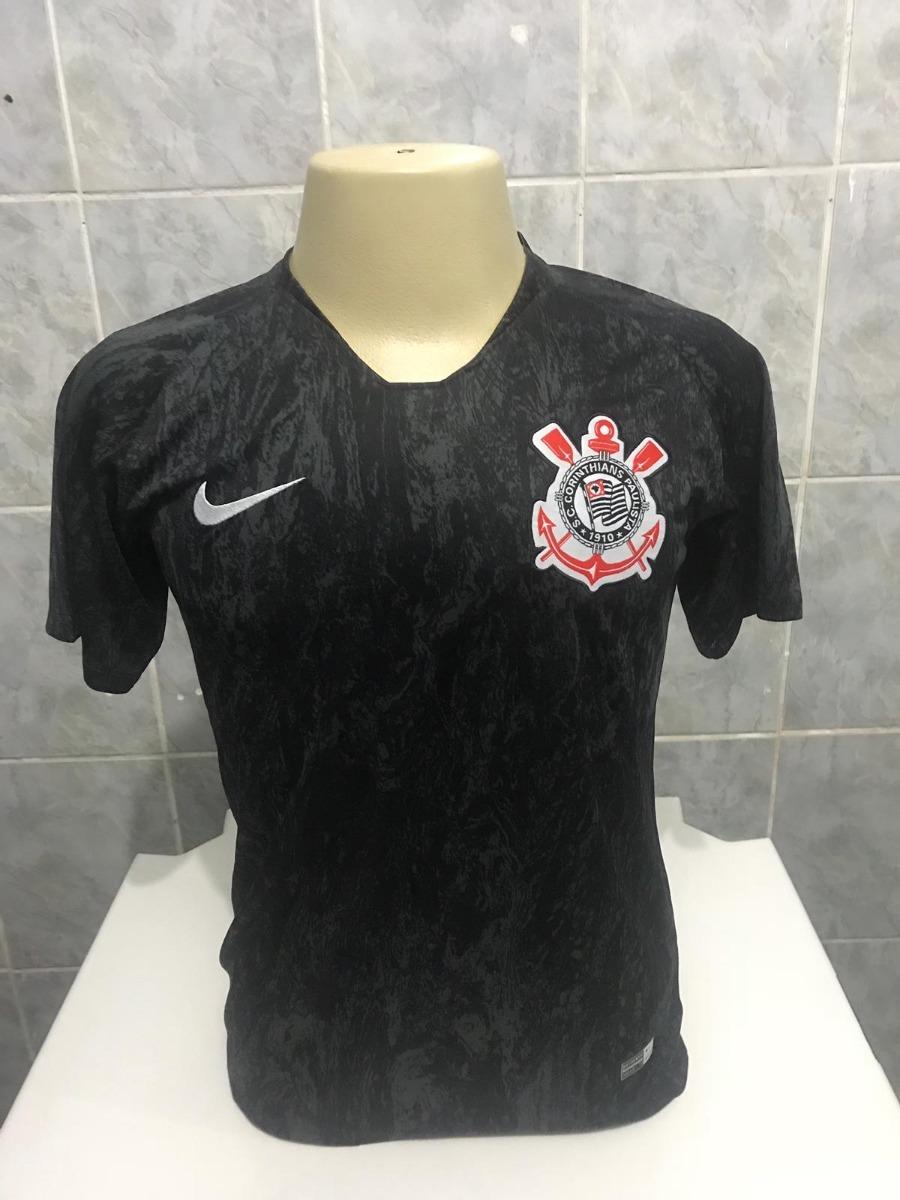 23ce15e6e1becc  nova camisa corinthians preta 2018 original - super  promoção. Carregando zoom. 9e685a5f498667  camisa nike ... cf65fa343f863