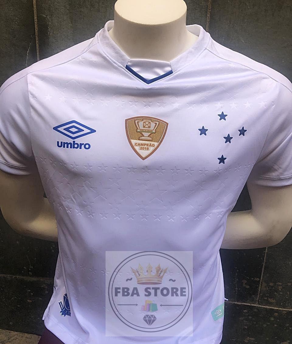 6c02dd7681 nova camisa cruzeiro 2018 2019 branca copa brasil azul. Carregando zoom.