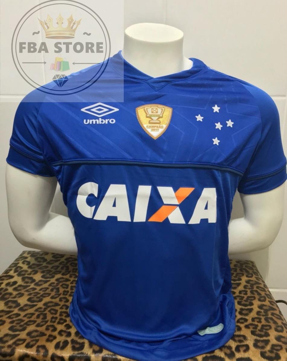 9ec345f391b95 nova camisa cruzeiro 2018 2019 com patch copa brasil azul. Carregando zoom.