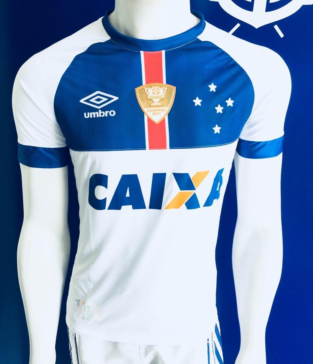ada2d7785b Nova Camisa Cruzeiro Branca 2018 Com Patch Da Copa Do Brasil - R  79 ...