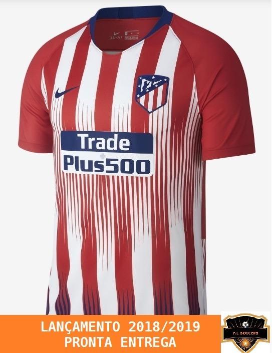 fc08bed54e Nova Camisa Do Atlético De Madrid S n - 18 19 - Oficial - R  120