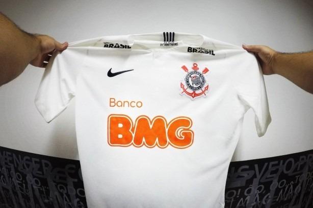 51d379f14bcdb Nova Camisa Do Corinthians 2019 Bmg Novo Patrocinio Bmg 2019 - R ...