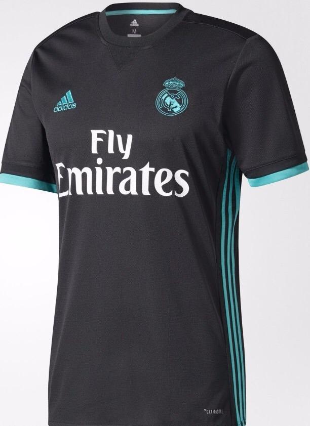 432cec066d2d3 Nova Camisa Do Real Madrid Preta Cr7 2018 !!! - R  59