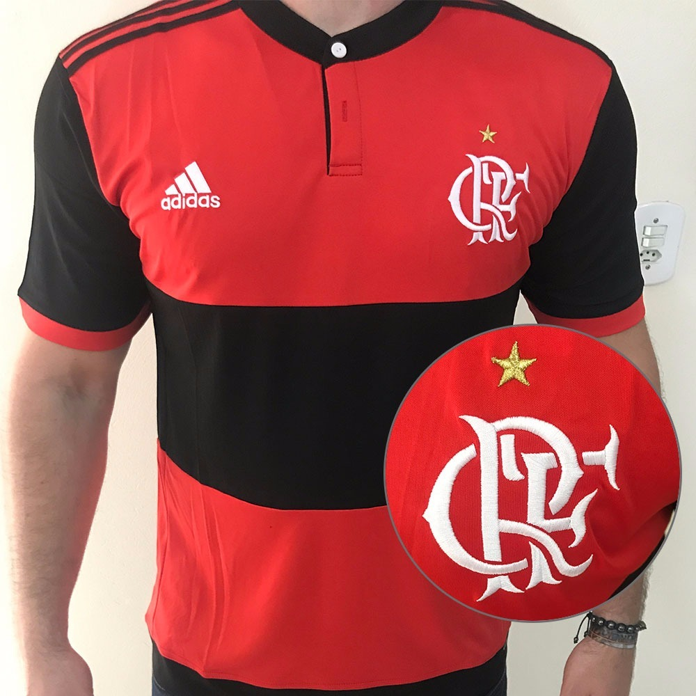 nova camisa flamengo 2017 2018 pronta entrega oficial frete. Carregando  zoom. 8e2fd1f13a05a