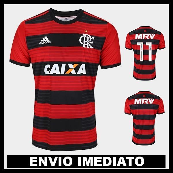 5d625575f8c77 Nova Camisa Flamengo 2018 Oficial - Promoção - R  119