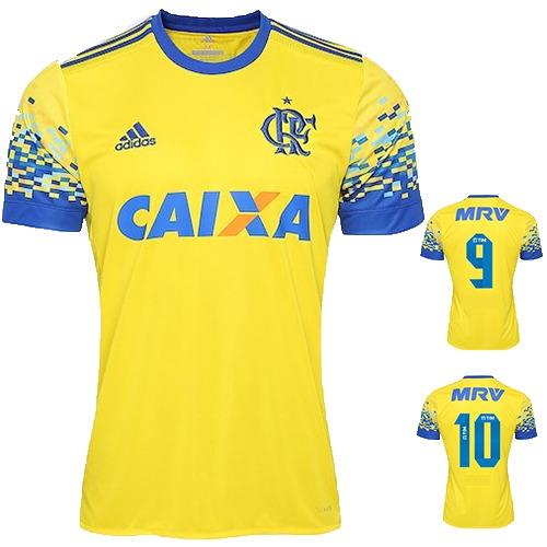 Nova Camisa Flamengo Amarela Original Torcedor- Super Oferta - R  36 ... d98a77f896c81
