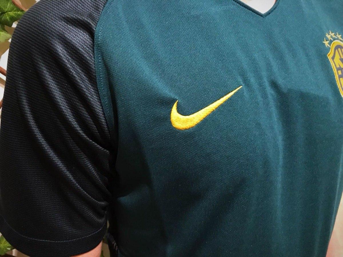 nova camisa futebol seleção brasileira copa 2018 oficial fit. Carregando  zoom. 3e5048f980762