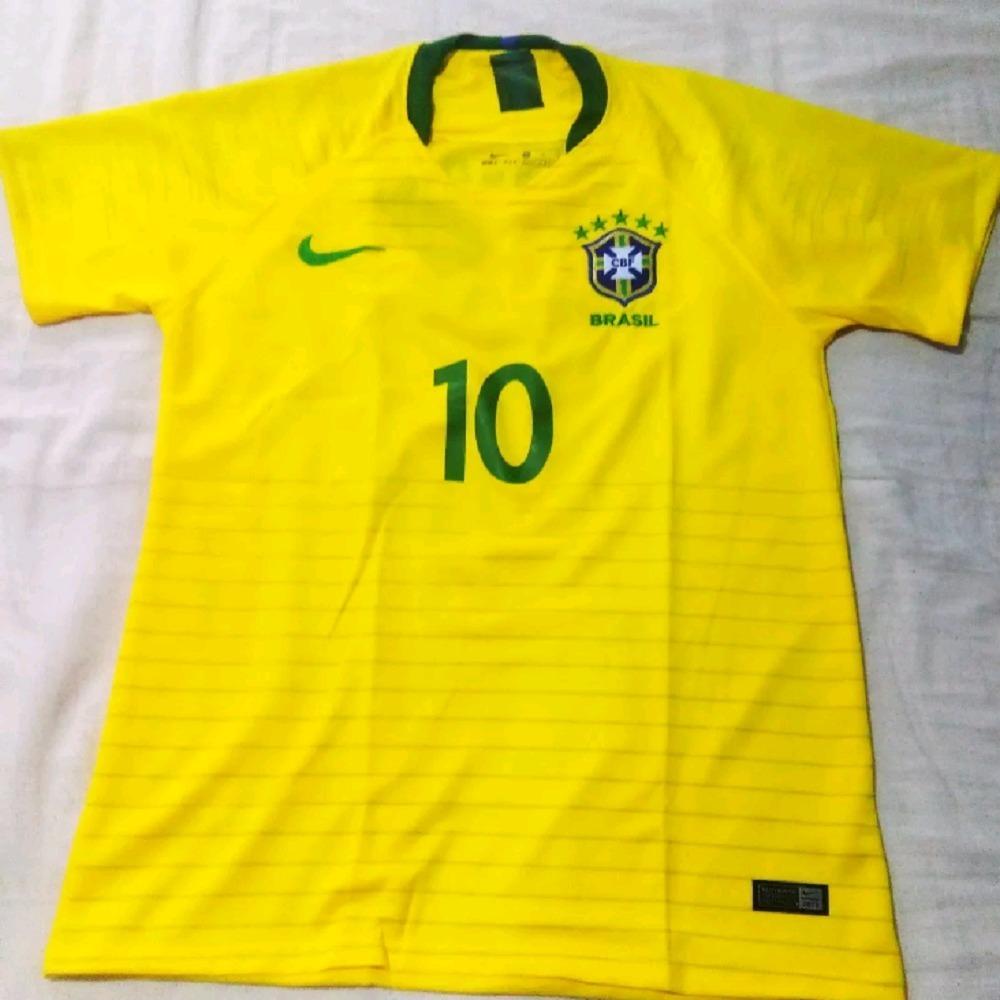 nova camisa futebol seleção brasileira oficial copa 2018. Carregando zoom. 80486ee355a2a