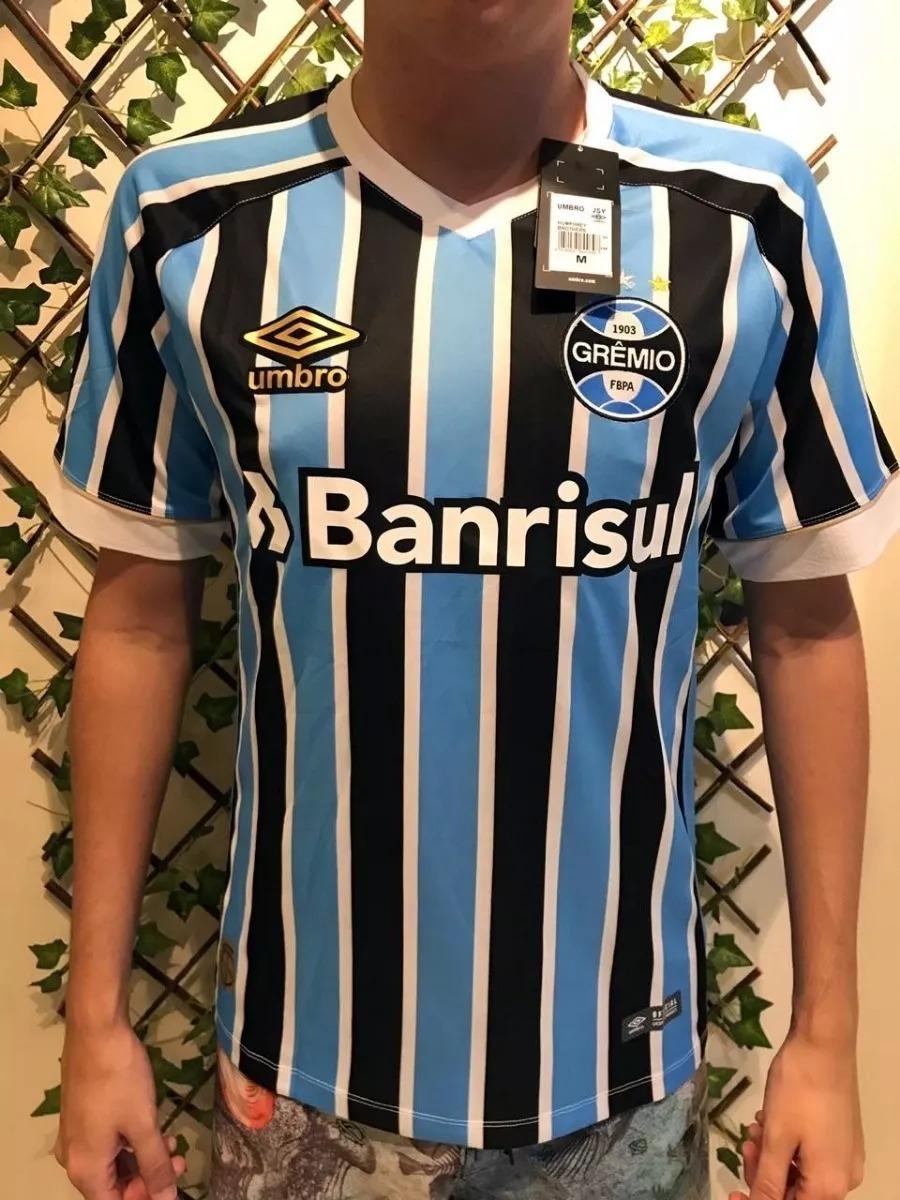 c64f19445e Nova Camisa Grêmio Foot-ball Porto Alegrense Tricolor 2018 - R  169 ...
