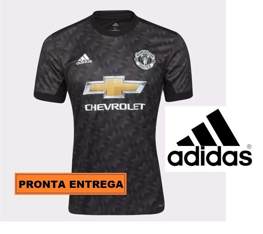 fb867bf7b nova camisa manchester united preta 2018. Carregando zoom.