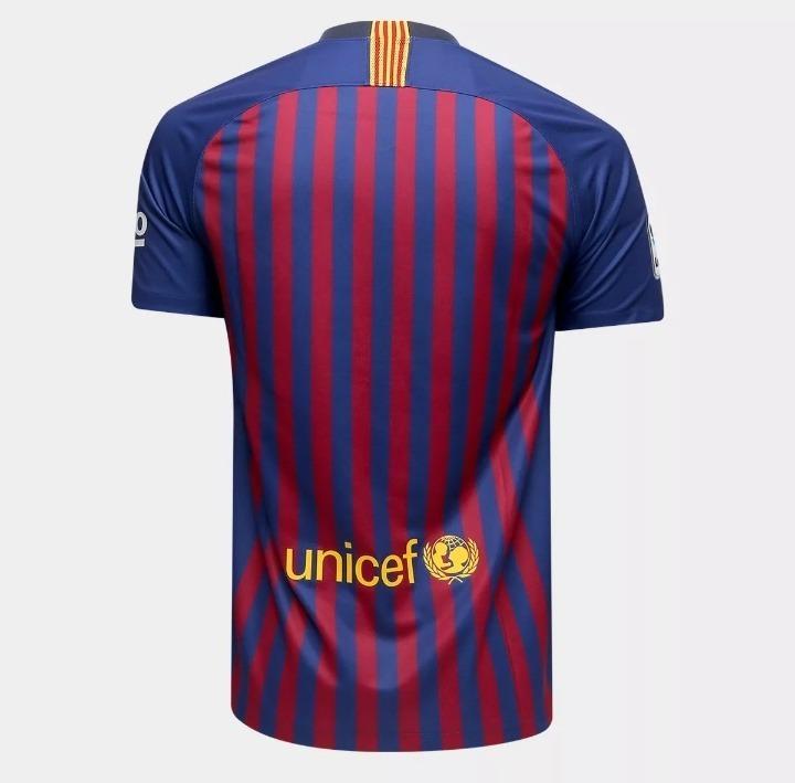 1728f02b3 Nova Camisa Nike Barcelona 18 19 - Messi - Oficial - R  129
