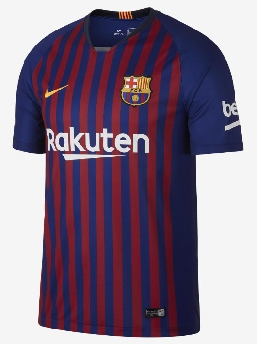 7148abb126 Nova Camisa Nike Barcelona 18 19 - S n - Oficial - R  110