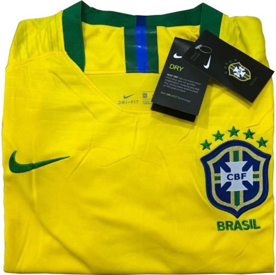 3b9463f6fc36d nova camisa nike futebol da seleção brasileira original 4. Carregando zoom.