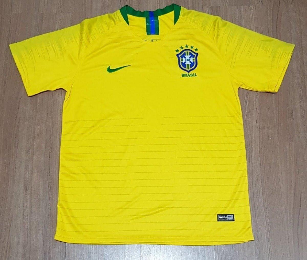 nova camisa nike futebol seleção brasileira oficial copa 18. Carregando zoom . c76db283795e2