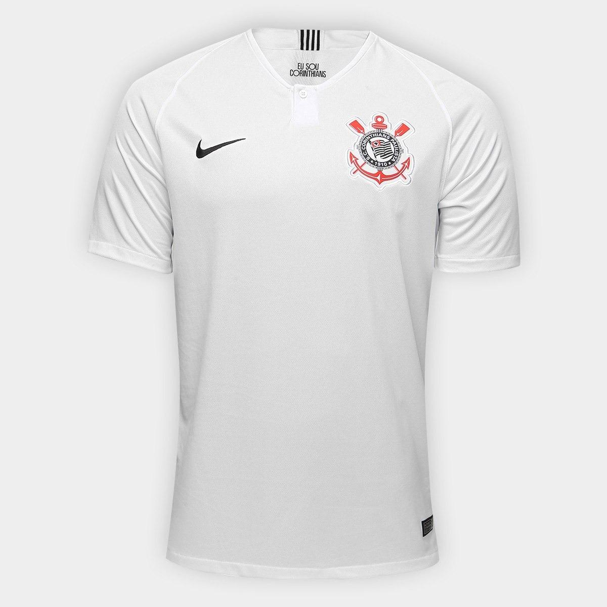 nova camisa nike oficial corinthians lançamentos preta branc. Carregando  zoom. 9eb01d077a0d3