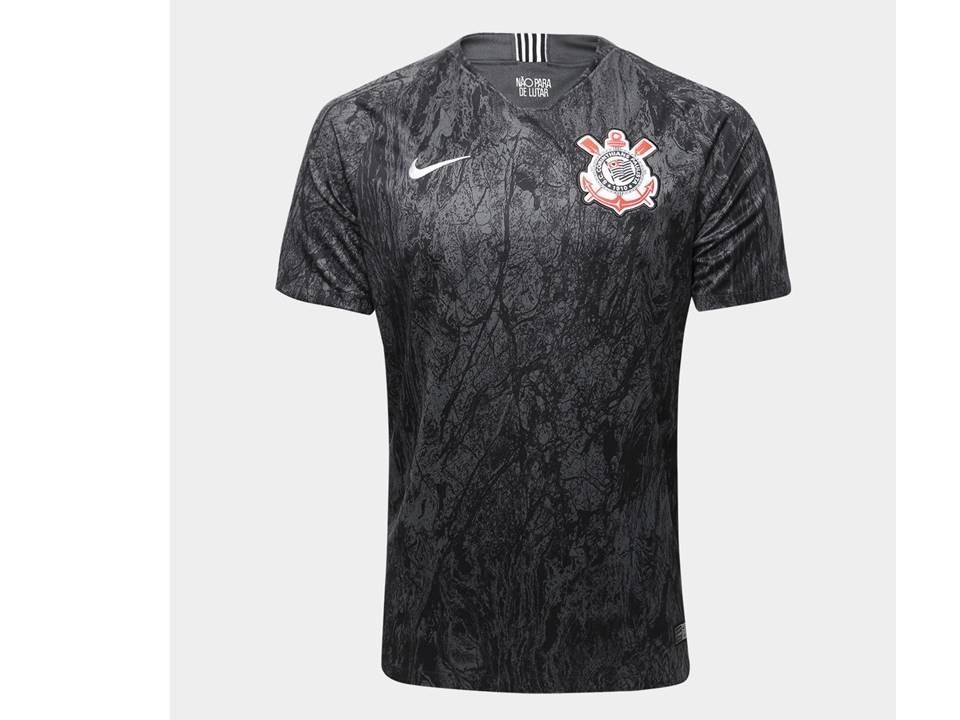 nova camisa nike oficial corinthians preta original 2018 19. Carregando zoom . 5098c843e56b4