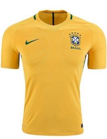 97979db499 Nova Camisa Nike Seleçao Brasileira Copa Do Mundo Fifa 2018 - R  139 ...