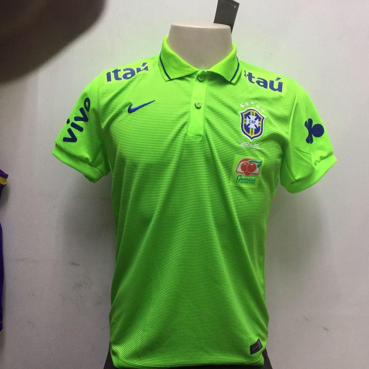 d7bdef9417 nova camisa nike seleção brasileira 2018 dry-fit verde. Carregando zoom.