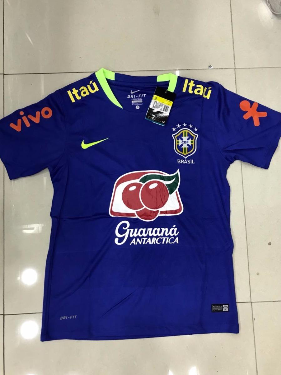 nova camisa nike seleção brasileira treino cor verde e azul. Carregando  zoom. 26c238c0741d1