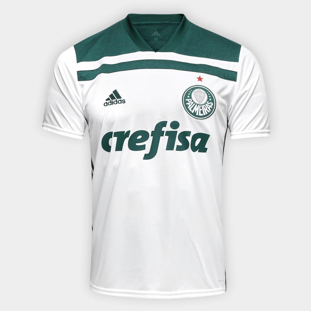 493af0b60ee41 nova camisa palmeiras adidas original 2018 oficial branca !! Carregando zoom .