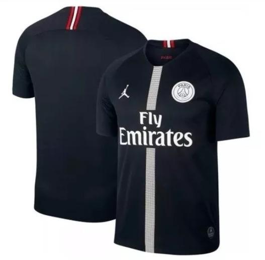 164e53d72 Nova Camisa Paris Saint-germain Preta Psg Jordan 2019 - R  139
