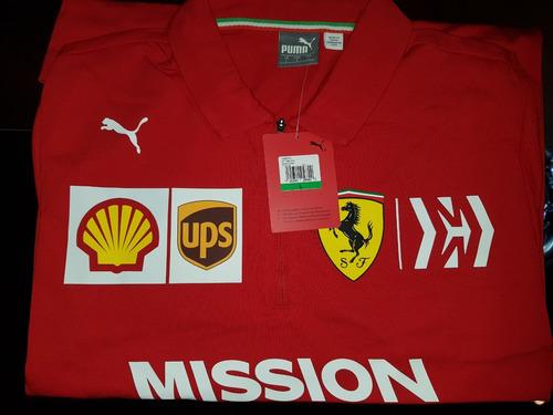 nova camisa polo scuderia ferrari f1 team 2019
