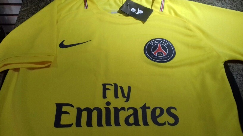 55290c29c Nova Camisa Psg Paris Saint-germain 2017  2018 Amarela - R  69