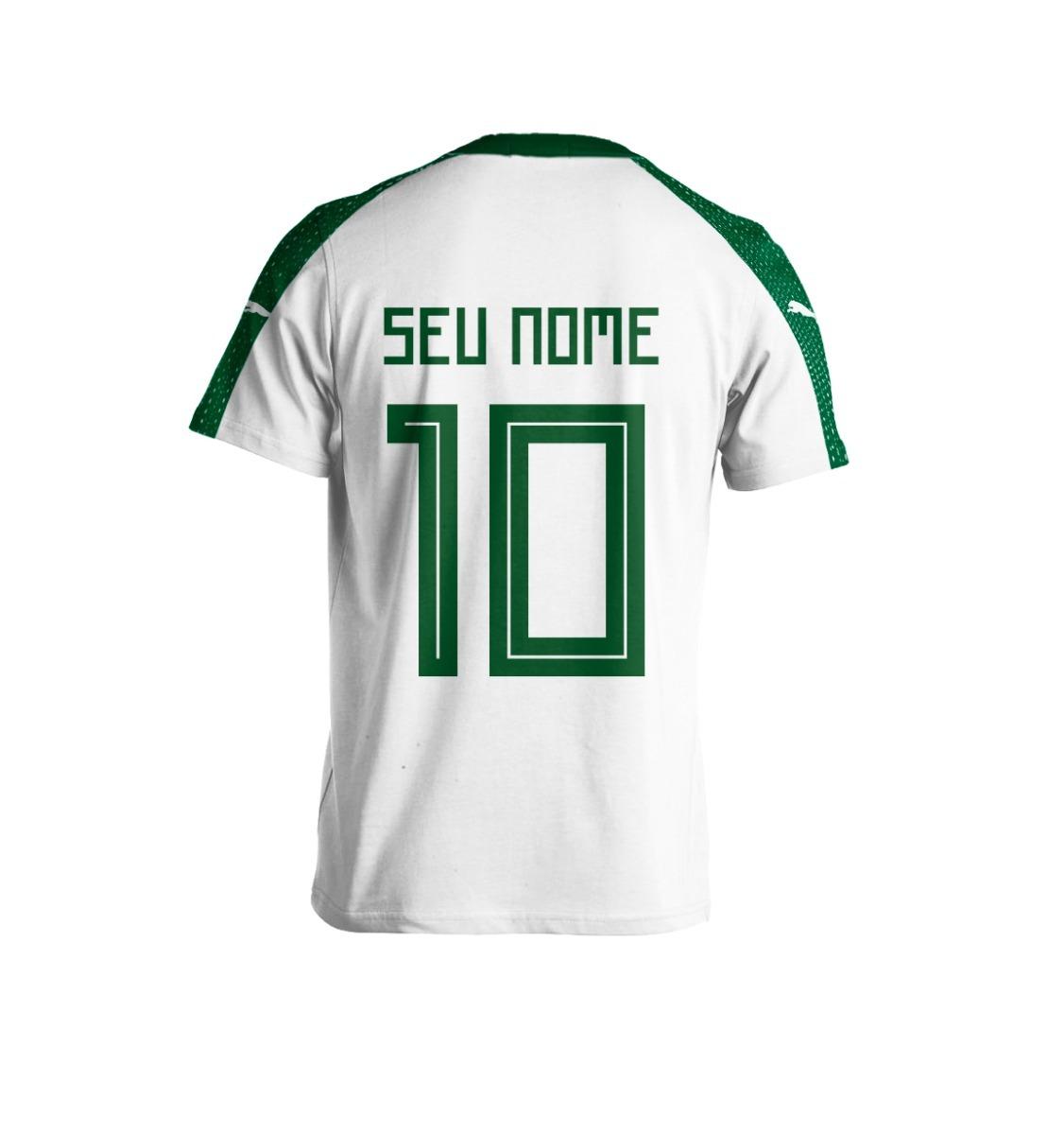 Nova Camisa Puma Palmeiras 2018 Personalizada + Frete Gratis - R  98 ... 31966c887b516