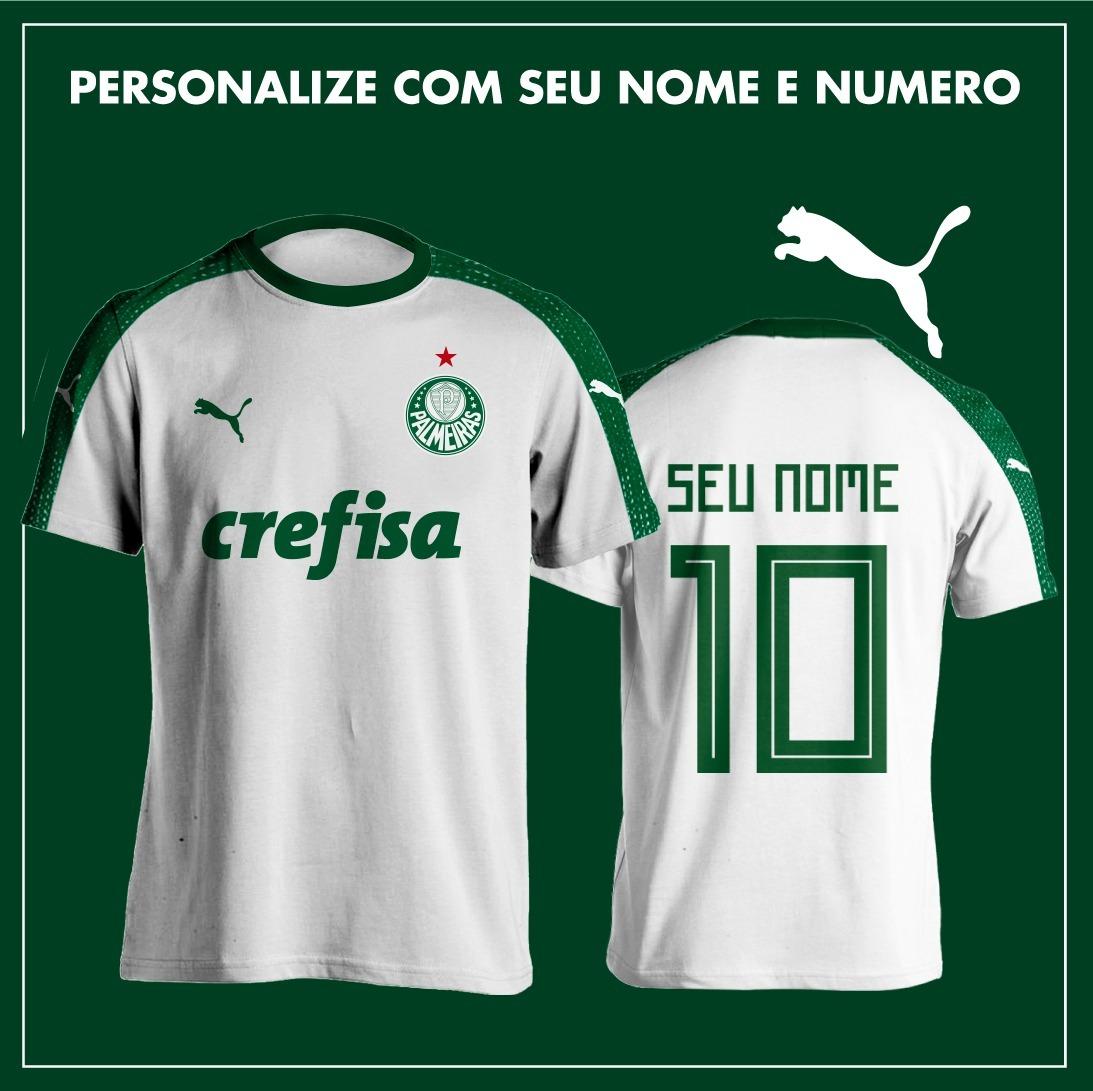 d0491b071f Nova Camisa Puma Palmeiras 2018 Personalizada + Frete Gratis - R  98 ...