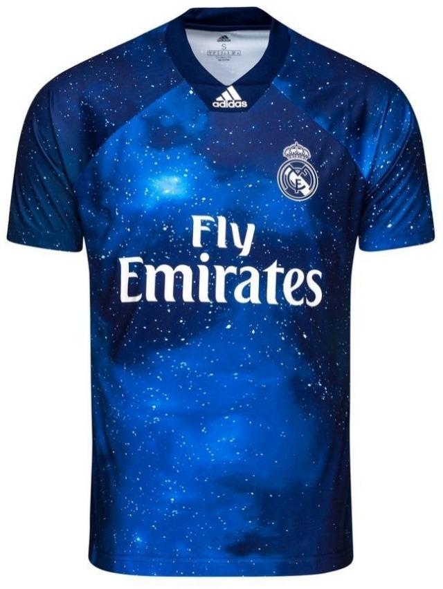 dcaa5cf1f0 Nova Camisa Real Madrid Ea Sports Azul 2019 Promoção - R$ 119,99 em ...