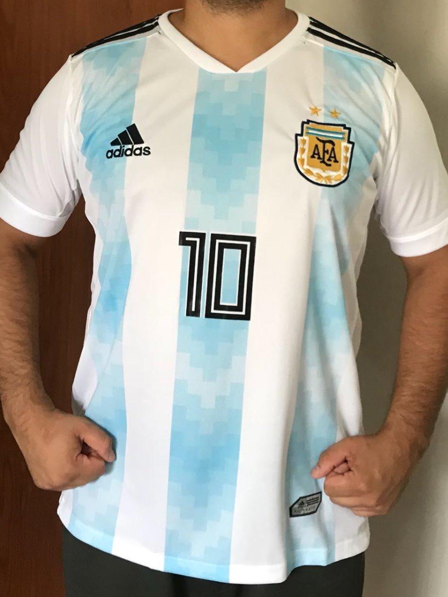 297a3e53e nova camisa seleção argentina copa russia 1 uniforme bordada. Carregando  zoom.