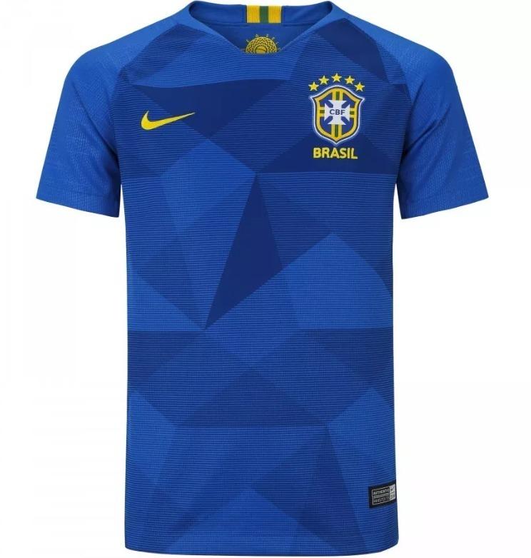 Nova Camisa Seleção Brasileira 2018 Copa Do Mundo Azul - R  120 734e9fa48bef5