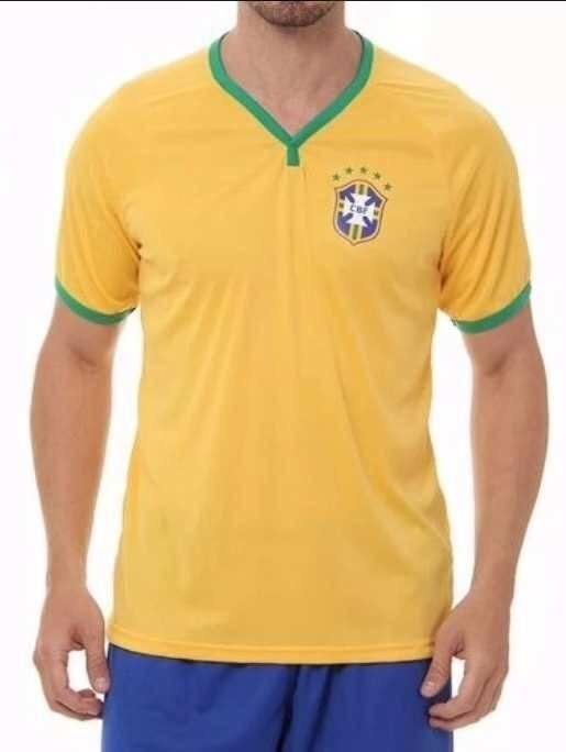 c06fdb93c1 Nova Camisa Seleção Brasileira Oficial 2018 Copa Russia Cbf - R  45 ...